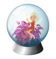 A dome with a fairy vector image vector image