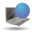 a laptop computer in differ vector image vector image