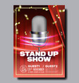 advertising flyer banner on stand up show vector image vector image