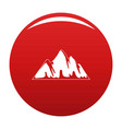 alp icon red vector image vector image