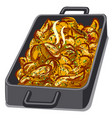 baked roasted potatoes vector image vector image