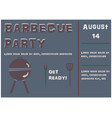 barbecue party poster on dark brown vector image