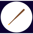 Baseball bat computer symbol vector image