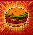 burger isolated on white background vector image vector image