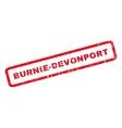 Burnie-Devonport Rubber Stamp vector image vector image