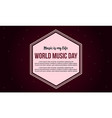 celebration world music day banner style vector image vector image