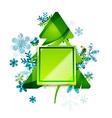 Christmas internet button vector image