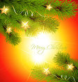 christmas pine tree vector image