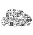 cloud composition of ten digits texts vector image