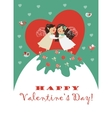 Cute angels embrace vector image