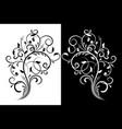 floral decorative ornament flower branch vector image vector image