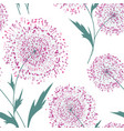 flower bouquet seamless pattern floral summer vector image vector image