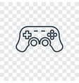 gamepad toy concept linear icon isolated on vector image