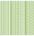 geometric seamless pattern olive vintage vector image vector image