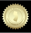 Gold star label New Jersey vector image vector image