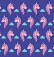 head cute unicorn of fairy tale pattern vector image vector image