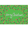 Horizontal template Christmas card vector image