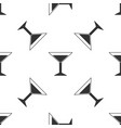 martini glass icon isolated seamless pattern vector image vector image