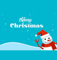 merry christmas greeting card and happy new year vector image vector image