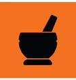 Mortar and pestel icon vector image