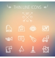 Music and entertainment thin line icon set vector image vector image