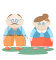 national grandparents day funny grandfather and vector image