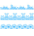 ocean seamless pattern vector image vector image