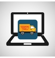 online delivery concept truck fast delivery vector image