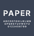 origami font white folded paper latin letters