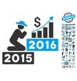 Pray For Money 2016 Flat Icon With Bonus vector image vector image