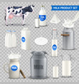 product milk on transparent background set vector image vector image