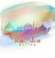 ramadan background with mosque silhouettes on vector image vector image