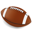 Realistic American Football vector image vector image