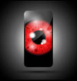 red eyeball phone vector image vector image
