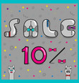 sale ten percents artistic font vector image vector image