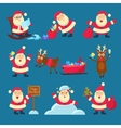Santa Deer Christmas and New Year vector image vector image