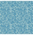 Seamless blue texture with flowers vector image vector image