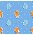 seamless pattern with sea shells and vector image vector image