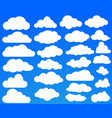 set of many white clouds on blue sky vector image vector image