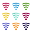 Set of wireless network symbol made with vector image vector image