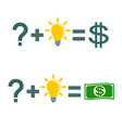 solving a problem and make money vector image vector image