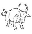 stylized ox vector image