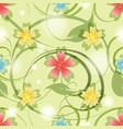 summer medow flowers seamless pattern vector image vector image