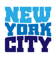 T shirt typography New York blue vector image vector image