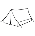 Tourist tent for travel and camping vector
