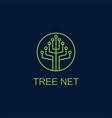 tree net logo vector image