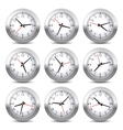 Wall Clock Set on White Background vector image vector image