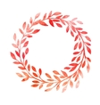 Watercolor autumn frame Wreath made of hand drawn vector image vector image