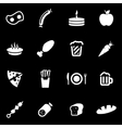 white food icon set vector image