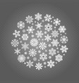 white snowflakes round banner isolated vector image